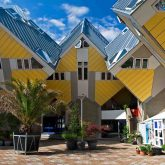 Cubic houses in Rotterdam. The Netherlands